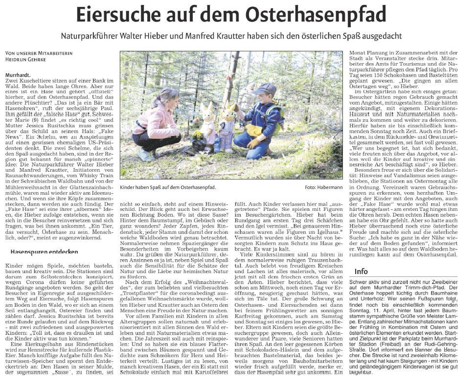 Eiersuche auf dem Osterhasenpfad - Naturparkführer Schwäbisch-Fränkischer Wald e.V.