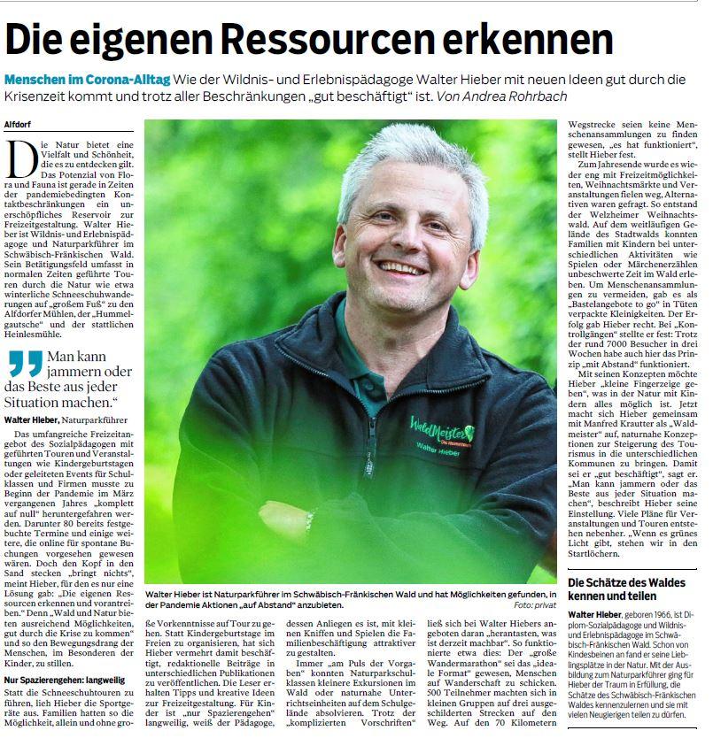 Die eigenen Ressourcen erkennen - Naturparkführer Schwäbisch-Fränkischer Wald e.V.