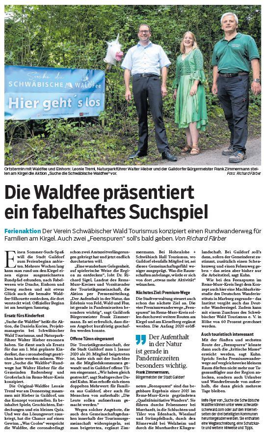 Die Waldfee präsentiert ein fabelhaftes Suchspiel - Naturparkführer Schwäbisch-Fränkischer Wald e.V.