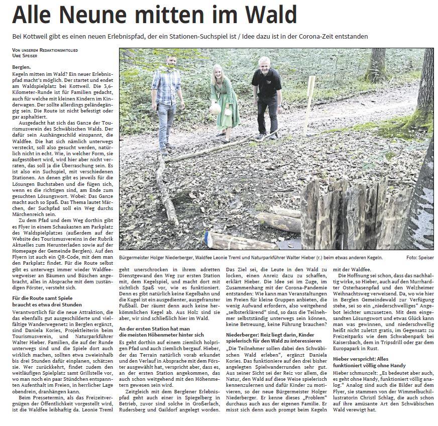 Alle Neune mitten im Wald - Naturparkführer Schwäbisch-Fränkischer Wald e.V.