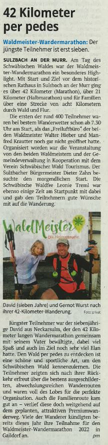 42 km per pedes - Naturparkführer Schwäbisch-Fränkischer Wald e.V.
