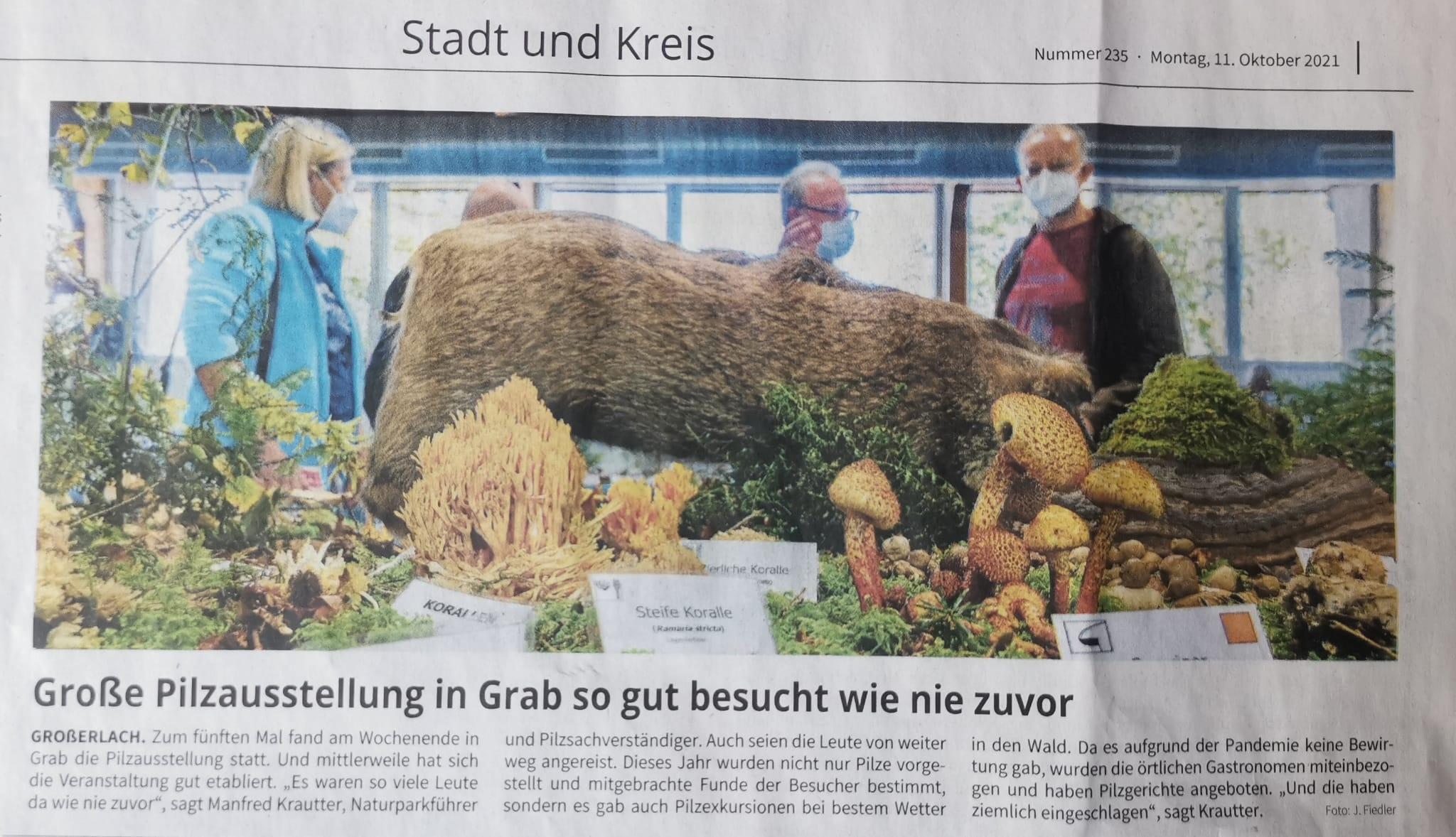 5. Pilzausstellung Grab - Naturparkführer Schwäbisch-Fränkischer Wald e.V.